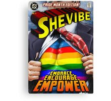 SheVibe Super Human Gay Pride Cover Art Canvas Print