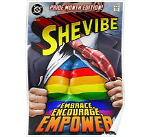 SheVibe Super Human Gay Pride Cover Art Poster