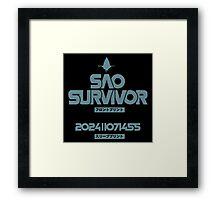 <SWORD ART ONLINE> Sao Survivor Framed Print