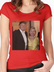 Clinton and Trump Women's Fitted Scoop T-Shirt