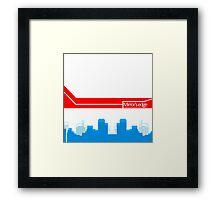 Mirror's edge -W city- Framed Print