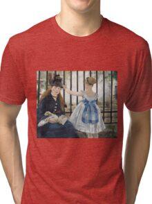 Edouard Manet - The Railway 1873 Woman Portrait Fashion  Tri-blend T-Shirt