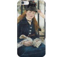 Edouard Manet - The Railway 1873 Woman Portrait Fashion  iPhone Case/Skin