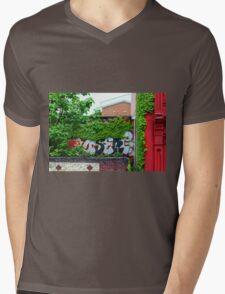 Graffiti Mens V-Neck T-Shirt