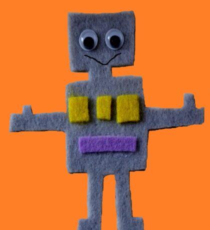 Robot on Orange  Sticker