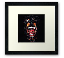 Givenchy dog rottweiler Framed Print