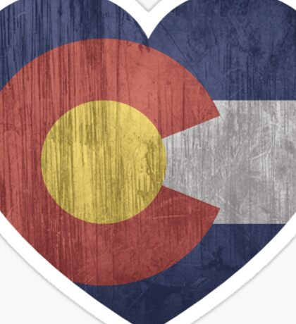 COLORADO HEART I LOVE COLORADO FLAG DENVER ASPEN BOULDER Sticker