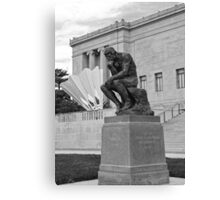 The Thinker and The Shuttlecock BW Canvas Print