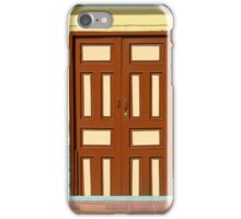 Brown Door With Beige Trim iPhone Case/Skin