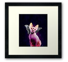 Devil Batcat Framed Print