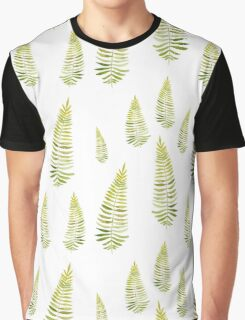 Watercolor fern seamless pattern Graphic T-Shirt