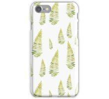 Watercolor fern seamless pattern iPhone Case/Skin