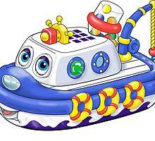 Preschool Tug Boat by ImagineThatNYC