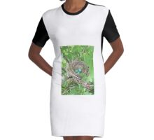 Robins Nest Graphic T-Shirt Dress