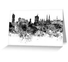Vienna skyline in black watercolor  Greeting Card