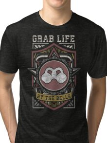 Grab Life By The Bells (Kettlebells) - Vintage Tri-blend T-Shirt