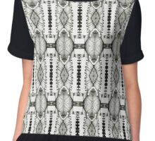 psychedelic pencil illustration Chiffon Top