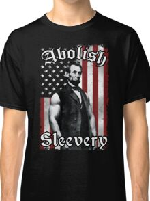 Abolish Sleevery (Vintage US Flag) Classic T-Shirt