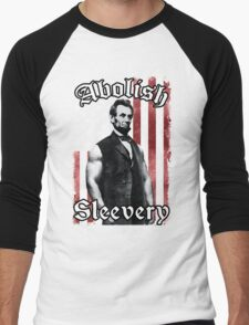 Abolish Sleevery (Vintage US Flag) Men's Baseball ¾ T-Shirt