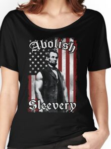Abolish Sleevery (Vintage US Flag) Women's Relaxed Fit T-Shirt