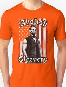 Abolish Sleevery (Vintage US Flag) Unisex T-Shirt