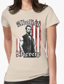 Abolish Sleevery (Vintage US Flag) Womens Fitted T-Shirt