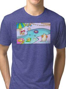 Kitty Pool Tri-blend T-Shirt