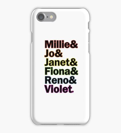 Sutton Foster Roles | White + Color iPhone Case/Skin