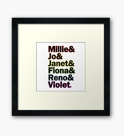 Sutton Foster Roles | White + Color Framed Print
