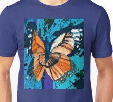 Orange butterfly graphic Unisex T-Shirt