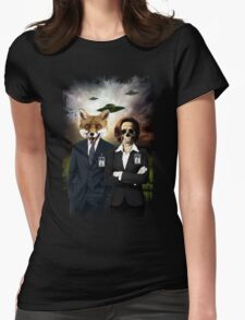Fox and Skully Womens Fitted T-Shirt