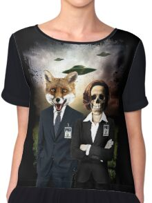 Fox and Skully Chiffon Top