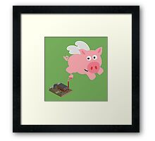 Pig out of slaughterhouse Framed Print