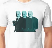 Faded Freud In Blue Unisex T-Shirt