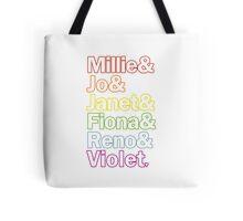 Sutton Foster Roles | White + Color Outline Tote Bag