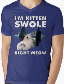 I'm Kitten Swole Right Meow Mens V-Neck T-Shirt