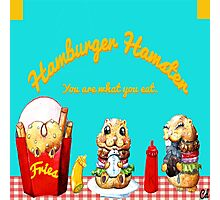 Hamburger Hamster Photographic Print