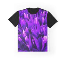 Tulips in Purple Graphic T-Shirt