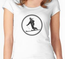 Womens Telemark Skiing Women's Fitted Scoop T-Shirt