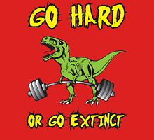 Go Hard or Go Extinct (Deadlift T-Rex) Green Yellow Tank Top