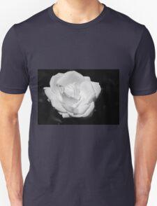 Heart Petal White Rose Unisex T-Shirt