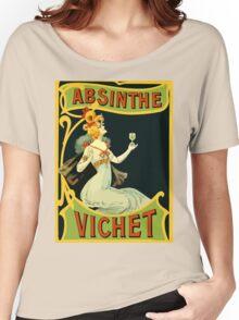 Absinthe Vichet, modern art nouveau Women's Relaxed Fit T-Shirt