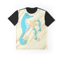 Blue Seahorses Graphic Art Graphic T-Shirt