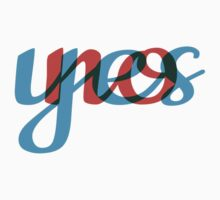 Yes, no, text design, word art One Piece - Short Sleeve
