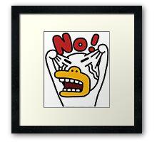 KakaoTalk Friends Tube (Angry) Framed Print