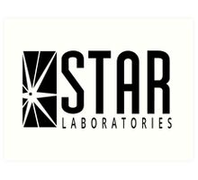 all star laboratories logo Art Print