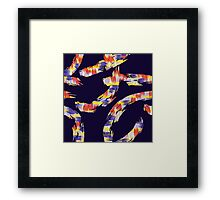 abstract brush Framed Print