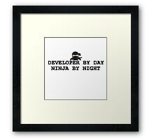 ninja developer programming computer Framed Print