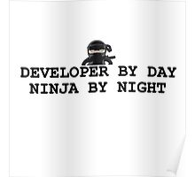ninja developer programming computer Poster