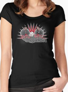 Evil Troy & Evil Abed Women's Fitted Scoop T-Shirt
